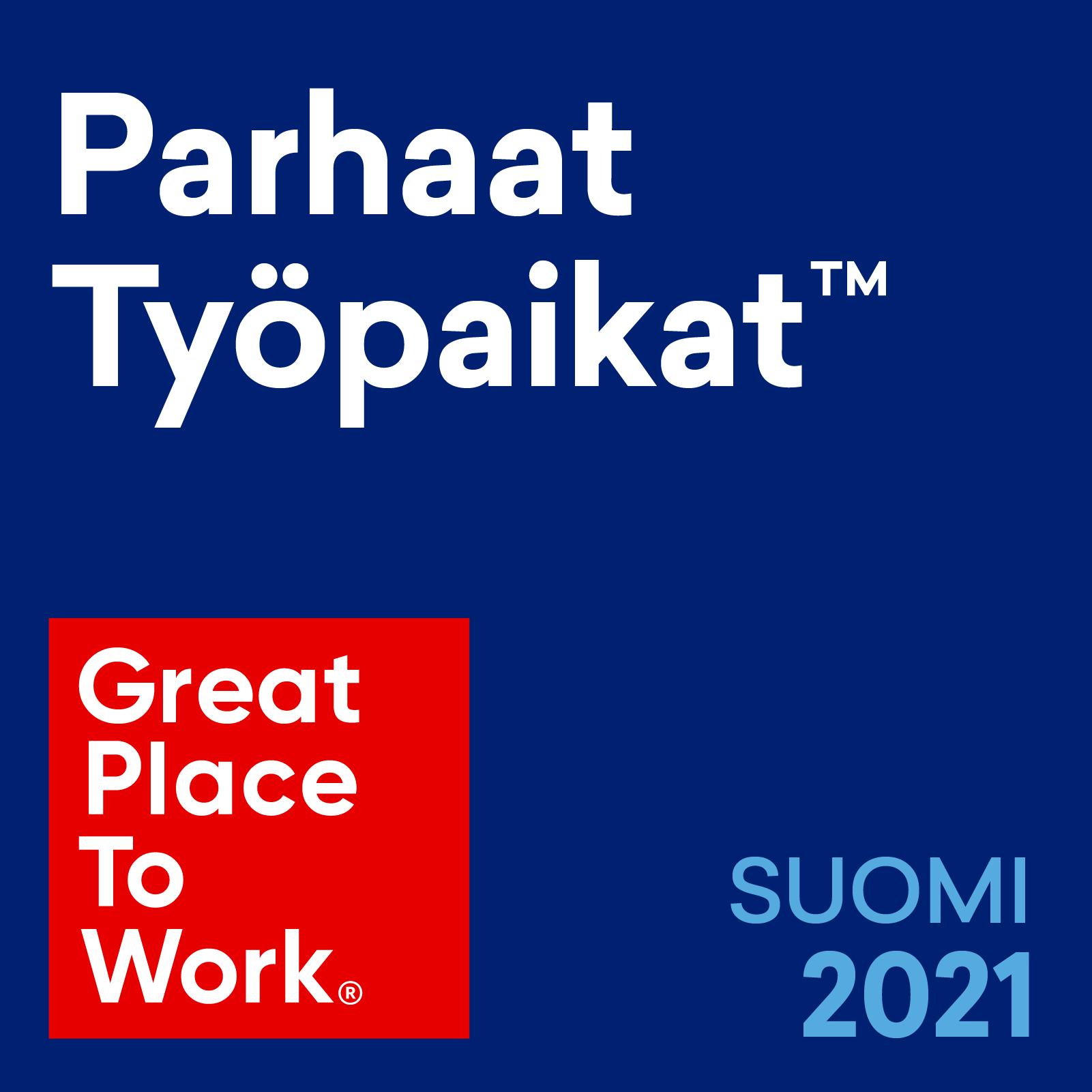 2021 Parhaat työpaikat