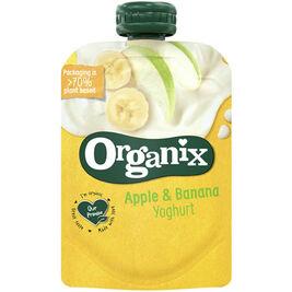 12kpl Organix Omena & banaani hedelmäjogurtti 6kk luomu 100g