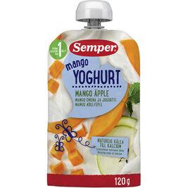 12kpl Semper Mango-Omena Jogurtti jogurttihedelmäsose 12kk 120g