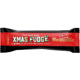 12kpl Barebells Crunchy Fudge Xmas Edition proteiinipatukka 55g
