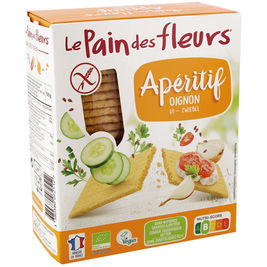 Le Pain des Fleurs Apératif sipuli  suolakeksi gluteeniton luomu 150g