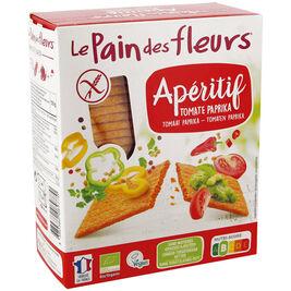 Le Pain des Fleurs Apératif tomaatti-paprika suolakeksi gluteeniton luomu 150g