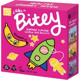 Bitey gluteeniton kuviokeksi banaani 125g