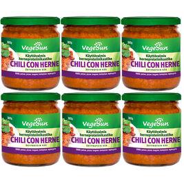 6kpl - VegeSun Chili con Herne herneproteiinikastike 380g
