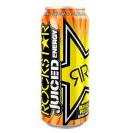 12kpl Rockstar Juiced Mango Orange Passion Fruit energiajuoma 50cl
