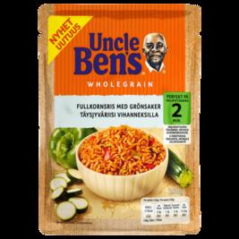 Uncle Ben's Täysjyväinen valmisriisi vihanneksilla 250g
