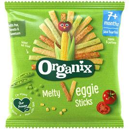 Organix Melty Veggie Sticks maissi- & riisitikut luomu 7kk 15g