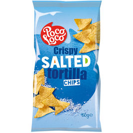 Poco Loco Crispy Salted tortilla chip suolattu maissilastu 450g