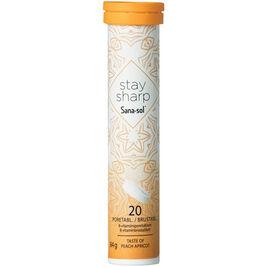 Sana-Sol Stay Sharp Peach Apricot B-vitamiiniporetabletti 20tabl