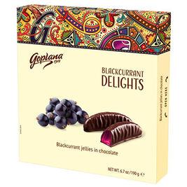 Goplana Blackcurrant Delights mustaherukkasuklaa 190g