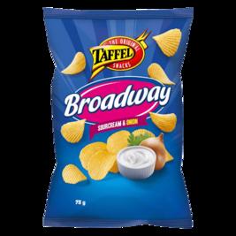 Taffel Broadway Sourcream & Onion perunalastu 75g