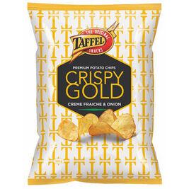 Taffel Crispy Gold Creme fraiche & Onion perunalastu 160g