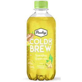 12kpl Paulig Cold Brew Sparkling Green Tea Ginger Lemon virvoitusjuoma 400ml