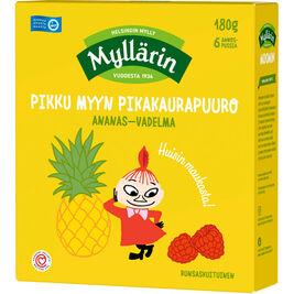 Myllärin Pikku Myyn pikakaurapuuro ananas-vadelma 6x30g