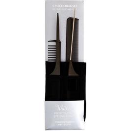 4kpl - Willkem Professional Styling Combs kampasetti+säilytyspussi