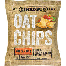 Linkosuo Oat Chips Korean BBQ kauralastu 150g
