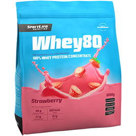 SportLife Whey80 Strawberry heraproteiinijauhe 1kg