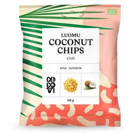 CocoVi Coconut Chips Chili kookossipsi luomu 60g