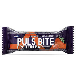 24kpl Puls Bite Red Fruits vähäsokerinen proteiinipatukka 35g