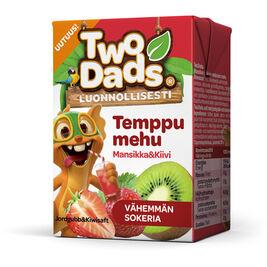 18kpl TwoDads Temppumehu Mansikka & Kiivi mehu 2dl