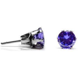 Hopea-Puro Kivi korvakorut violetti 6mm