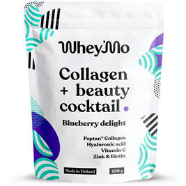 Whey´Mo Collagen + Beauty Cocktail Blueberry Delight kollageeni-juomajauhe 250g