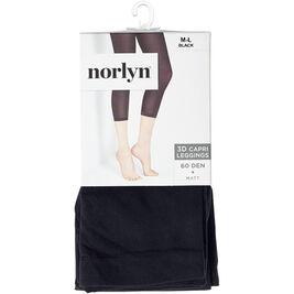 Koko M-L Norlyn 3D capri-legginssit 60den Black