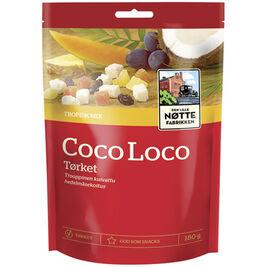 Den Lille Nøttefabrikken Coco Loco kuivattu hedelmäsekoitus 180g