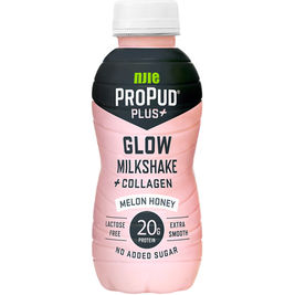 8kpl ProPud Plus+ Glow Milkshake Melon Honey proteiinipirtelö 330 ml