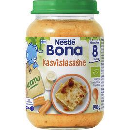8kpl Nestlé Bona kasvislasagne lastenateria luomu 8kk 190g