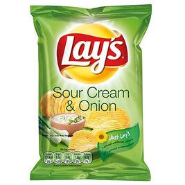 Lay's Sour Cream & Onion maustettu perunalastu 27,5g
