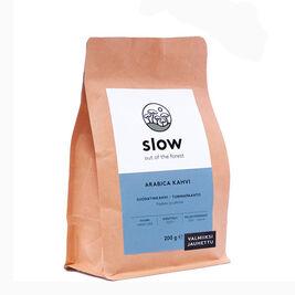 Slow Arabica tumma paahto suodatinkahvi 200g (kts. kuvaus)
