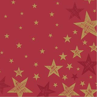 20kpl - Duni Shining Star lautasliina 33cm