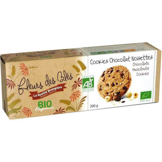 Fleurs des Blés Cookie & Chocolat Noisettes suklaa-hasselpähkinäkeksi luomu 200g