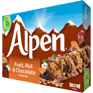 5kpl - Alpen Fruit, Nut & Chocolate moniviljapatukka 29g