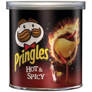 12kpl Pringles Hot & Spicy perunalastu 40g