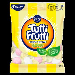 Fazer Tutti Frutti Chewy Fruits Sour vaahtomakeinen 150g