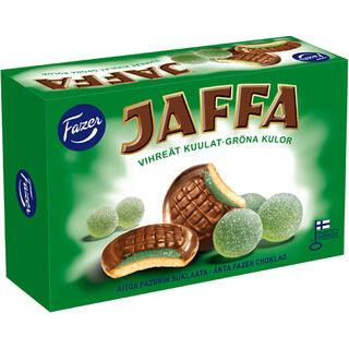 Jaffa Vihreät kuulat suklaalla kuorrutettu leivoskeksi 300g