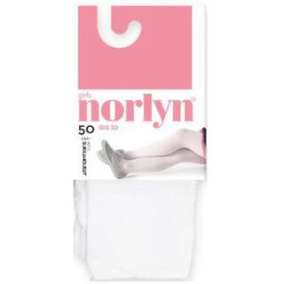 Koko 98-110cm Norlyn Jasmin 3D 30den White lasten sukkahousut
