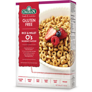 Orgran Rice and Millet O's Wildberry riisi-hirssimuro gluteeniton 300g