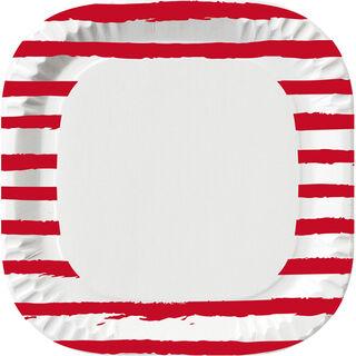 10kpl - Duni Sketchy Stripes kartonkilautanen 22cm