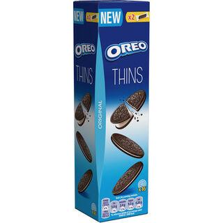 Oreo Crispy & Thin Original vaniljatäytteinen kaakaokeksi 96g