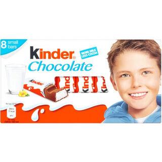 8kpl - Kinder Chocolate maitosuklaapatukka 12,5g